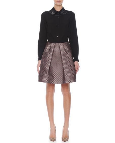 Jacquard Balloon Skirt