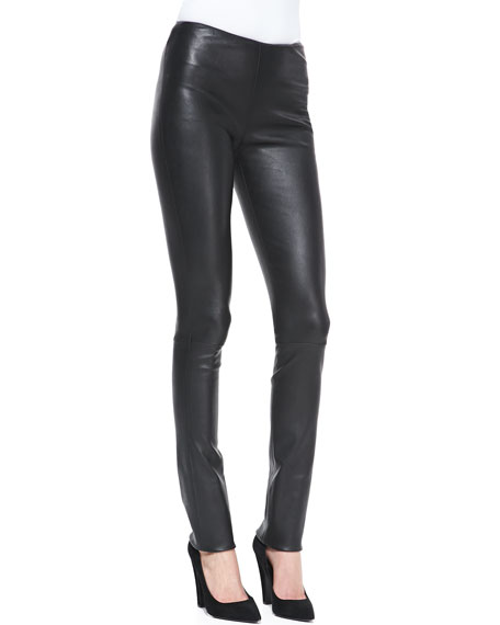 Moto-Style Leather Leggings