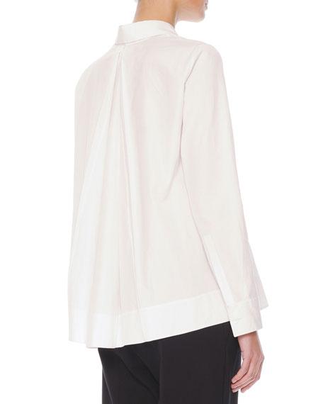 Inverted-Pleat Cotton Blouse