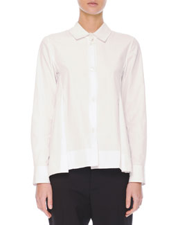 Marni Inverted-Pleat Cotton Blouse