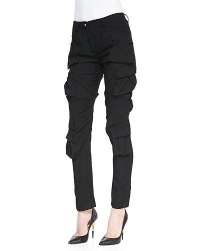 Altuzarra Modern Slim Crepe Cargo Pants
