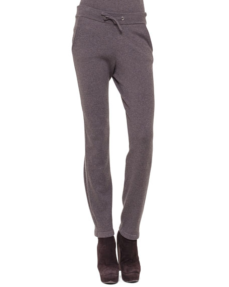 Drawstring Cashmere Jogging Pants