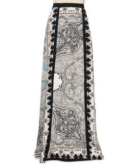 Etro Printed Double-Vent Maxi Skirt