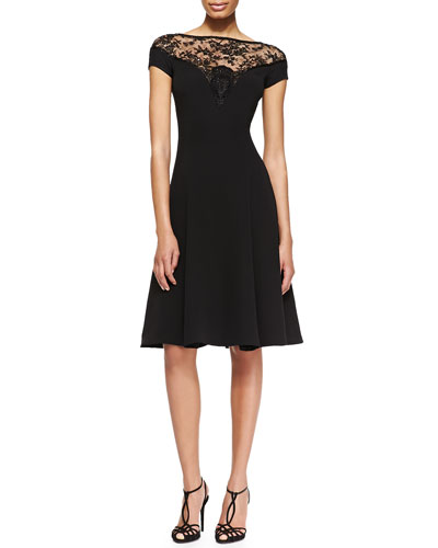 Ralph Lauren Collection Erica Full Beaded-Top Dress