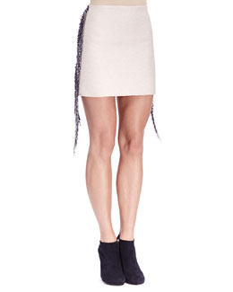 Lanvin Fringe & Bead-Trim Slim Skirt