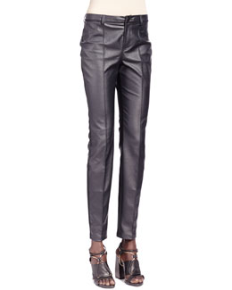 Lanvin Faux Leather Jeans