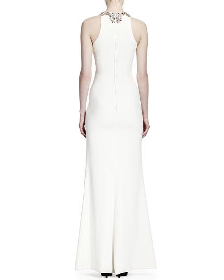 Sleeveless Star Bodice Gown, Vanilla