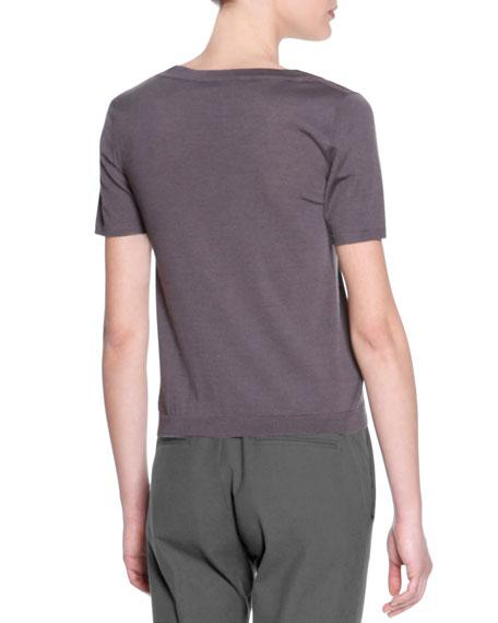 Short-Sleeve Wool Silk Tee