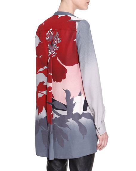 Long Floral Viscose Tunic