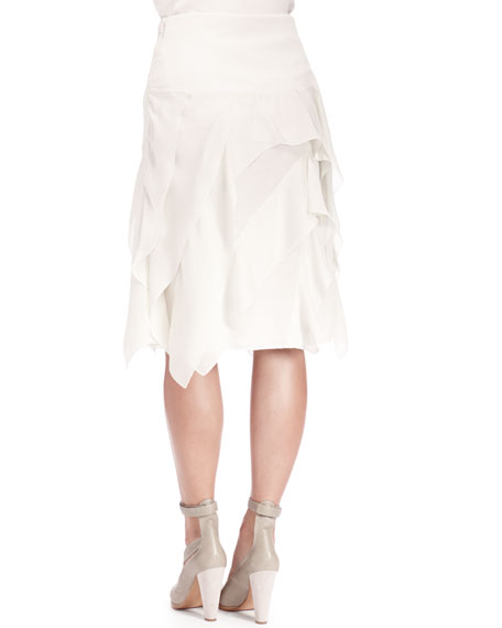 Georgette Tiered Ruffle Skirt