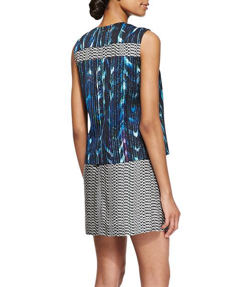 Sleeveless Printed Two-Piece Dress