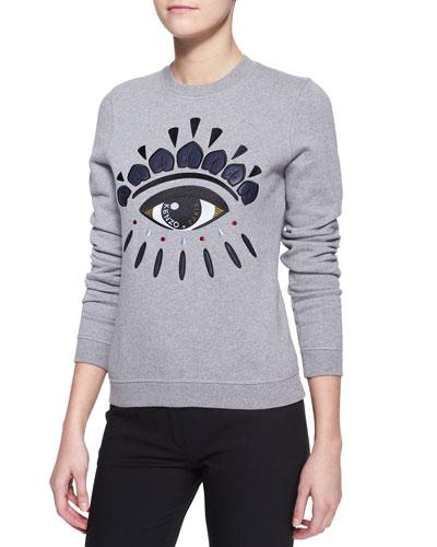 Kenzo Embroidered Cotton Eye Sweatshirt