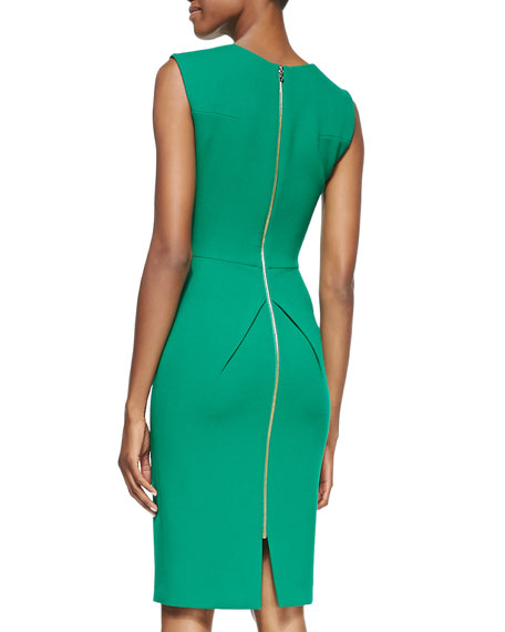 Sesia Wool Crepe Sheath Dress