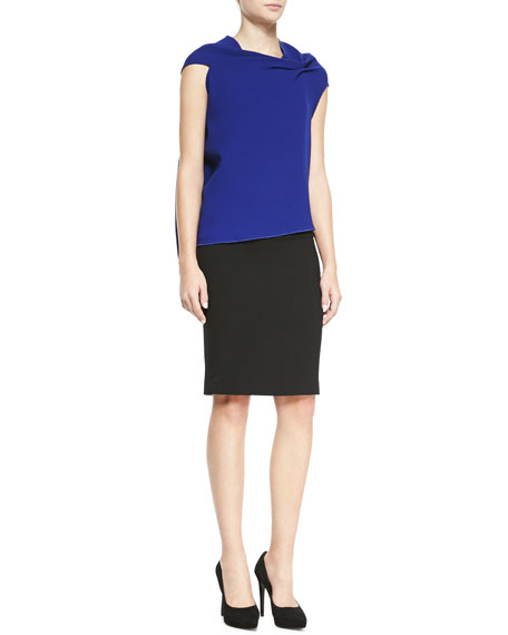 Sitona Slim Skirt with Back-Zip Detail