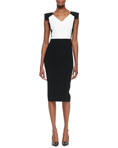 Atria Cap-Sleeve Sheath Dress