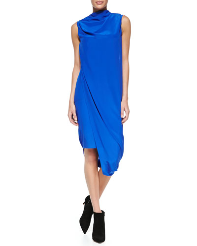 Acne Studios Pauli Crepe  Sleeveless Draped Dress