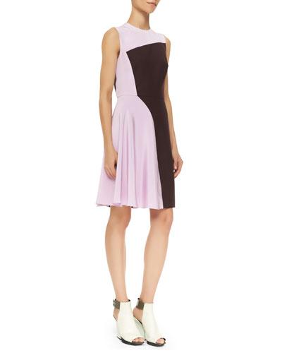 3.1 Phillip Lim Sleeveless Horizon Colorblock Dress, Mulberry
