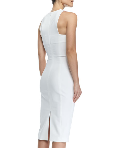 Power Stretch Dress with Structured Spaghetti Straps