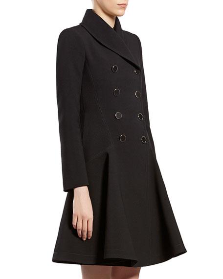 Black Flared Coat