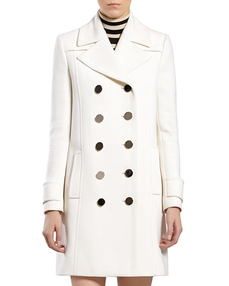 Gucci White Wool Coat