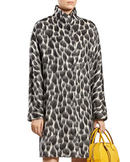 Gucci Animalier Mohair-Blend Coat
