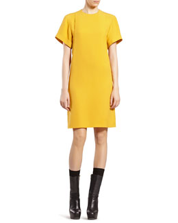 Gucci Yellow Silk Dress