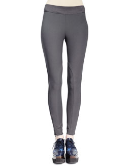 Stella McCartney Heather Cotton Stretch Leggings, Smoke