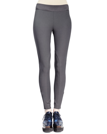 Heather Cotton Stretch Leggings, Smoke