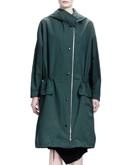 Stella McCartney Compact Tech Taffeta Anorak, Ivy Green