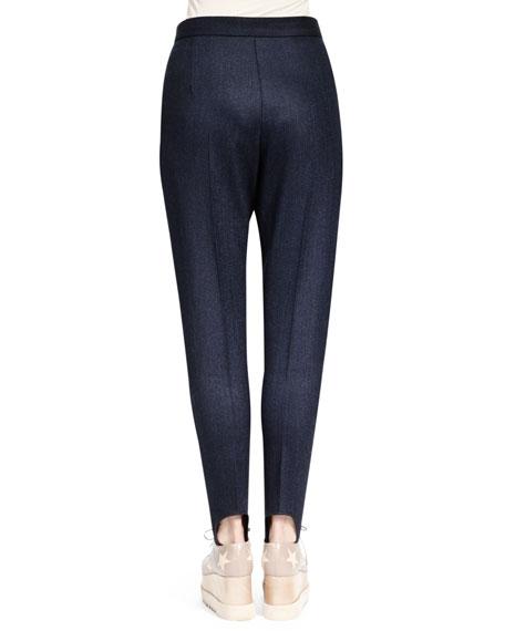 Relaxed Narrow-Leg Stirrup Pants, Midnight