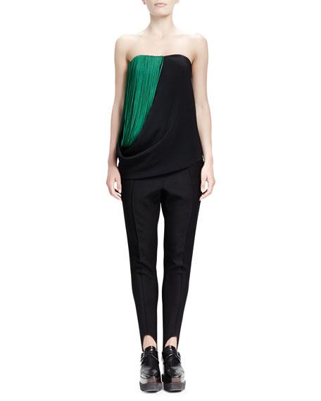 Relaxed Narrow-Leg Stirrup Pants, Black