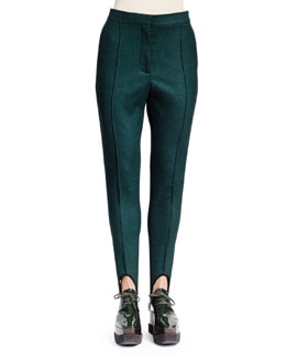 Stella McCartney Relaxed Narrow-Leg Stirrup Pants, Emerald