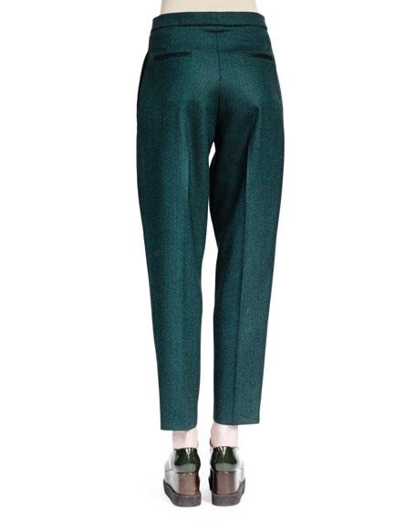 Relaxed Melange Wool Pants