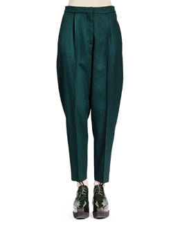 Stella McCartney Relaxed Melange Wool Pants