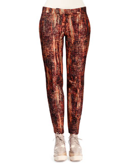 Stella McCartney Slim Tie-Dye Jacquard Pants