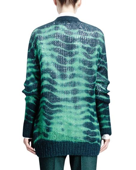 Long-Sleeve Soft Tie-Dye Sweater