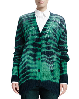 Stella McCartney Long-Sleeve Soft Tie-Dye Sweater