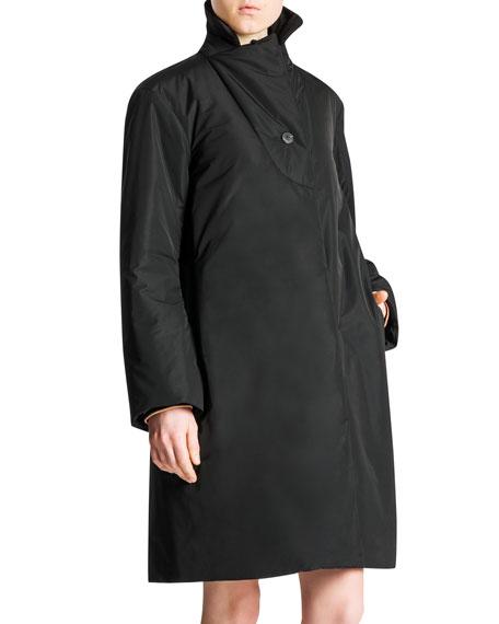 Padded Water-Repellant Nylon Jacket, Black