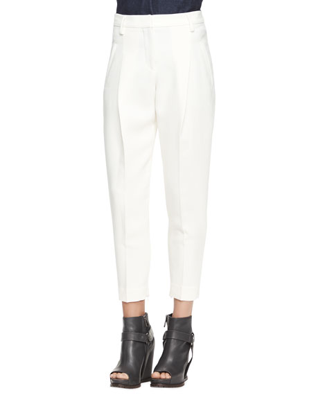 Full Pleated Ankle Trousers