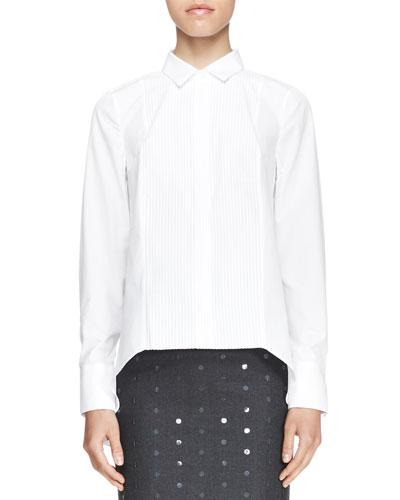 Brunello Cucinelli Poplin Pintuck Boyfriend Shirt