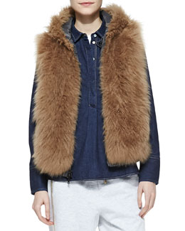 Brunello Cucinelli Reversible Fur Zip Vest