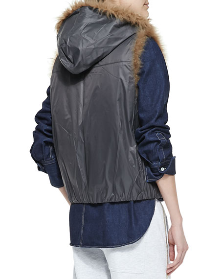 Reversible Fur Zip Vest