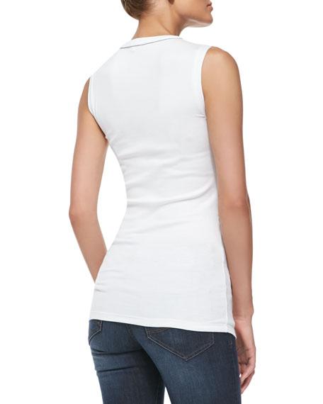 Sleeveless Ribbed T-Shirt