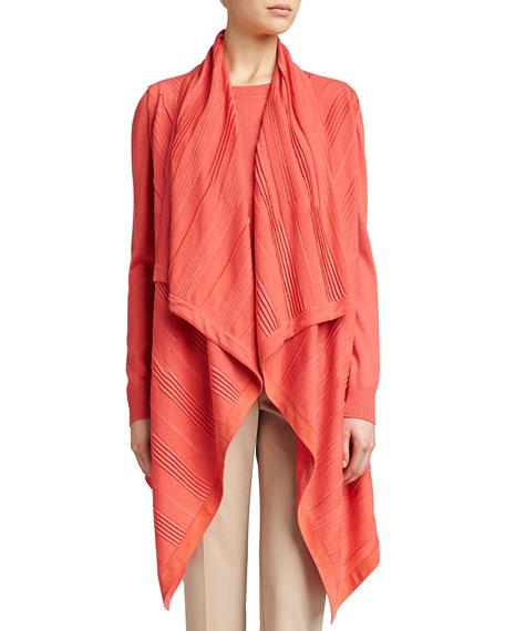 Silk Cashmere Blend Vest, Pink Grapefruit