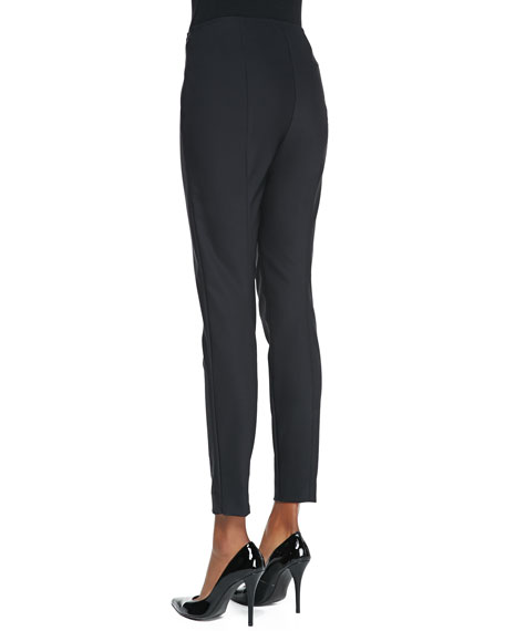 Scuba Bi-Stretch Leggings, Caviar
