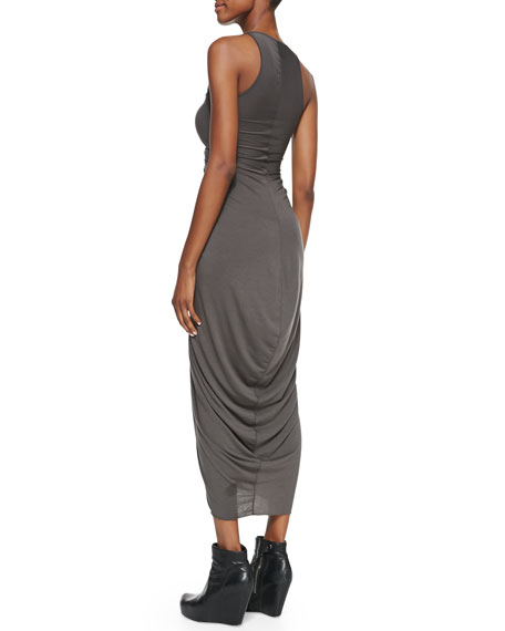 V-Neck Ruched-Center Dress
