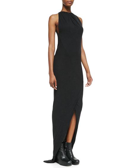 Heavy Jersey Draped Faux-Wrap Gown