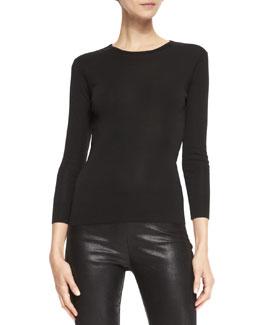 Ralph Lauren Black Label Audrey Long-Sleeve Knit Top
