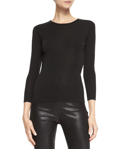 Ralph Lauren Black Label Audrey Long-Sleeve Knit Top