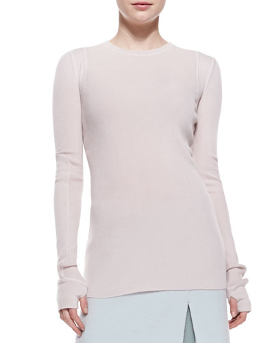 Marc Jacobs Cashmere Crewneck Long-Sleeve Sweater
